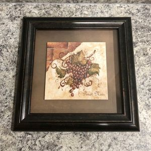 Framed painted grapes, Pinot Noir
